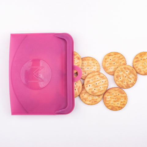 MontiiCo Pack & Snack Silicone Bag - Rose