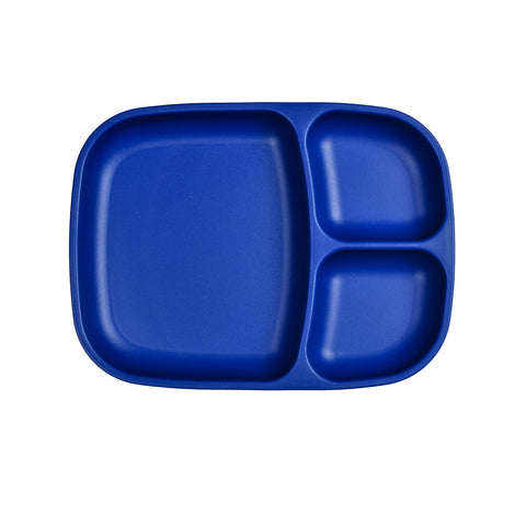 Re-Play Large Divided Plate - Navy Blue