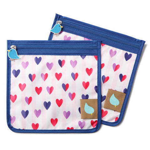 Jaq Jaq Bird Reusable Food Pouch - Love Hearts - BabyBento