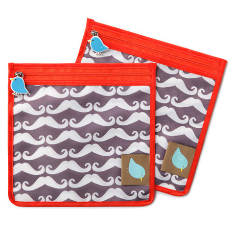 Jaq Jaq Bird Reusable Food Pouch - Mustache - BabyBento