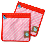 Jaq Jaq Bird Reusable Food Pouch - Pink Stripe - BabyBento