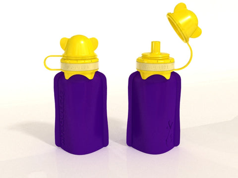 My Squeeze Reusable Silicone Pouch - Purple/Yellow - BabyBento