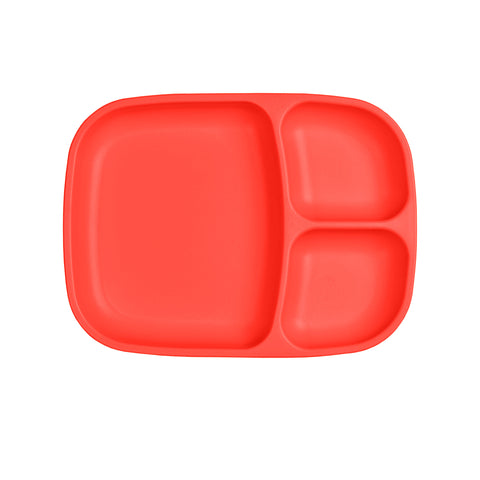 Re-Play Large Divided Plate - Red