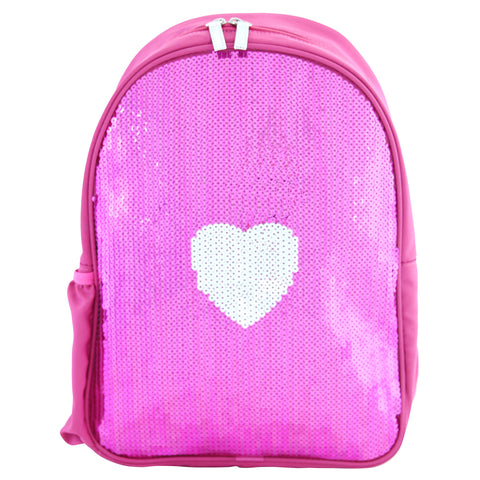 Giggle Me Pink Backpack - Sequin Heart - BabyBento