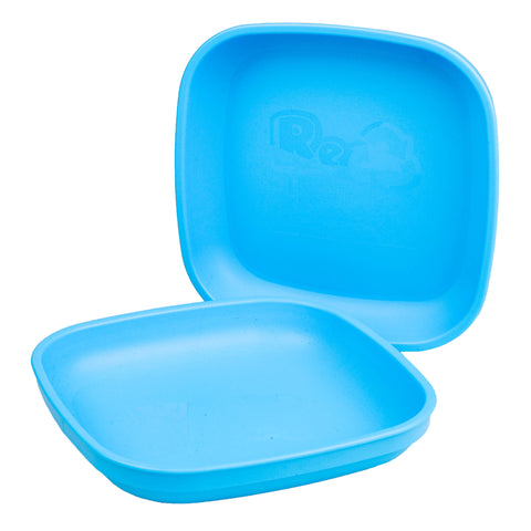 Re-Play Flat Plate - Sky Blue - BabyBento