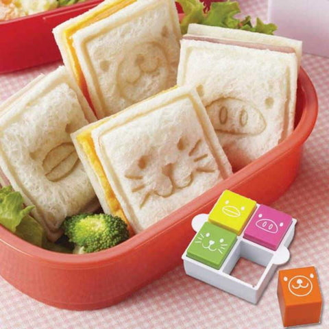 Square Animal Sandwich Cutter and Stamp set - BabyBento