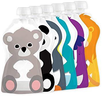 Squooshi Reusable Food Pouch - Small 6 pack  - Baby Bento