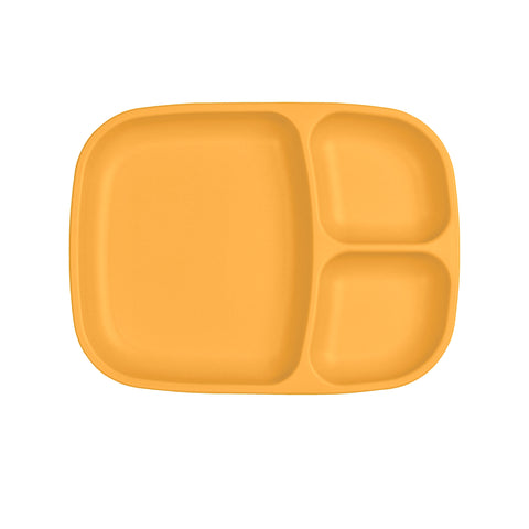 Re-Play Large Divided Plate - Sunny Yellow