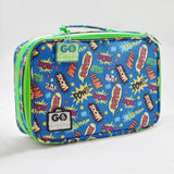 Go Green Lunch Box - Super Hero Comic with Blue Box