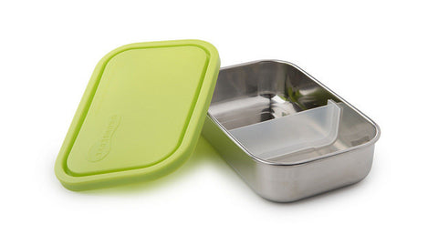 Stainless Steel Rectangle Lunch Box - Lime - BabyBento