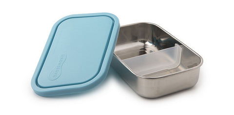 Stainless Steel Rectangle Lunch Box - Sky - BabyBento