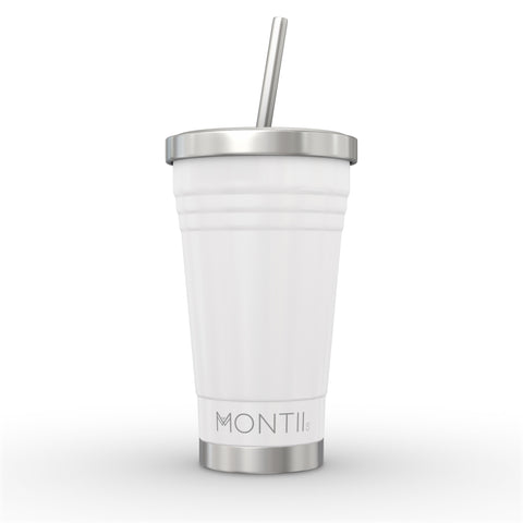 MontiiCo Stainless Steel Smoothie Cup - White