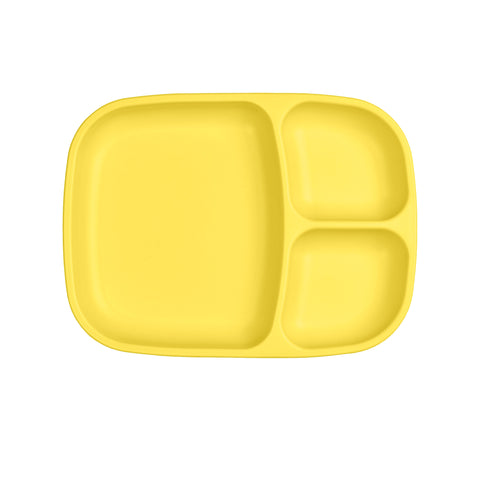 Re-Play Large Divided Plate - Yellow
