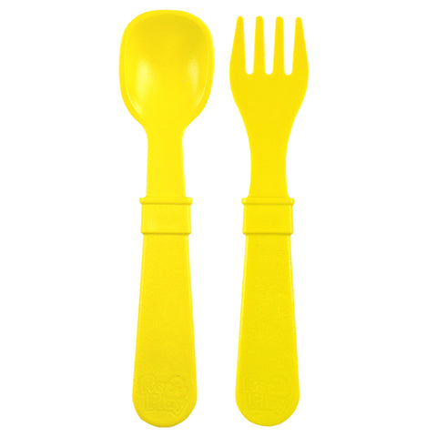 Re-Play Spoon and Folk Set - Yellow