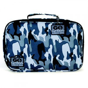 Go Green Lunch Box - Camo with Blue Box