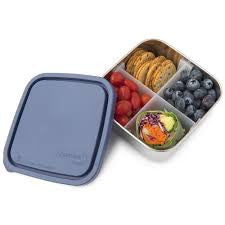 Divided To Go Stainless Steel Lunch Box - Ocean - BabyBento