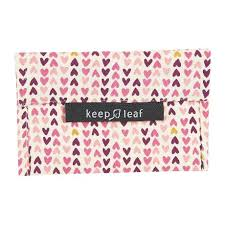Keep Leaf Reusable Snack Bag - Hearts