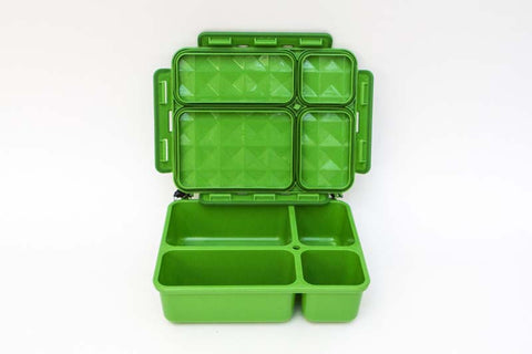 Go Green Medium  Lunch Box - Green - BabyBento