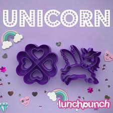 Lunch Punch Sandwich Cutter Pair - I ♡ Unicorn