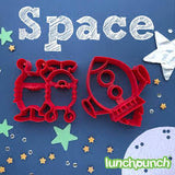 Lunch Punch Sandwich Cutter Pair - Space