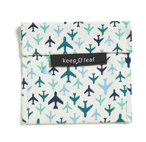 Keep Leaf Reusable Sandwich  Bag - Plane