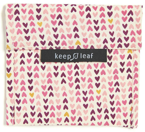 Keep Leaf Reusable Sandwich  Bag - Hearts