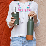 MontiiCo Insulated Drink Bottle - Moss - PRE ORDER
