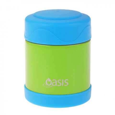 Oasis Insulated Kids Food Flask 300ml - Green/Blue