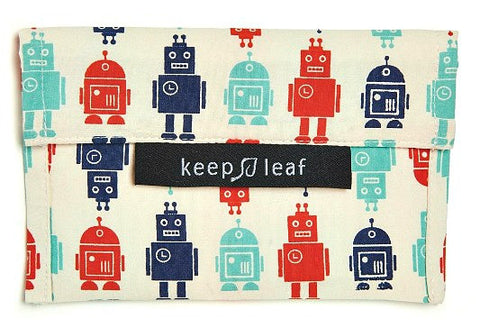 Keep Leaf Reusable Snack Bag - Robot - BabyBento