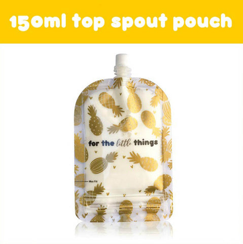 Sinchies 150ml reusable Food Pouch - Pineapple 10 pk