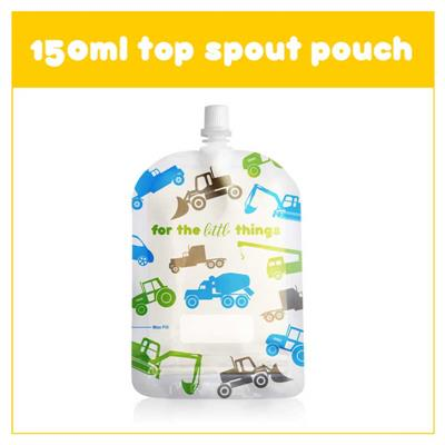 Sinchies 150ml reusable Food Pouch - Trucks 10 pk