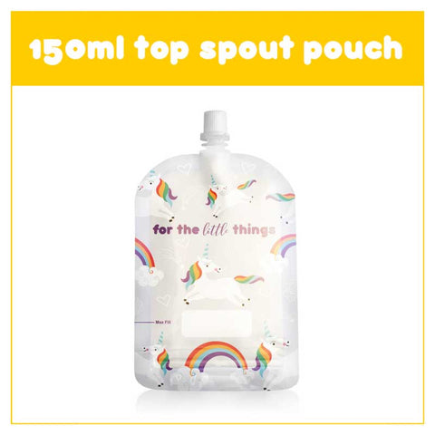 Sinchies 150ml reusable Food Pouch - Unicorn 10 pk