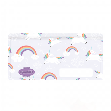 Sinchies Reusable Wrap Bag - Unicorn 5 pk