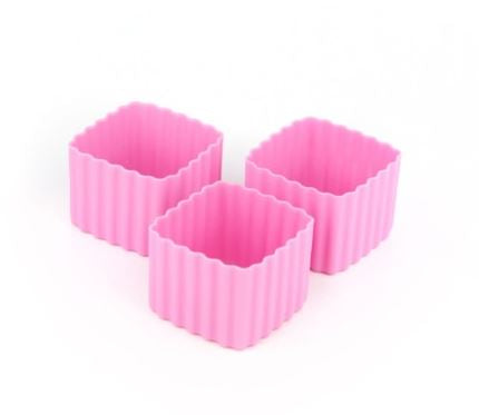 Bento Cups Square - Pink