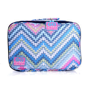 Go Green Lunch Box - Zig Zag with Pink Box - PRE ORDER - BabyBento
