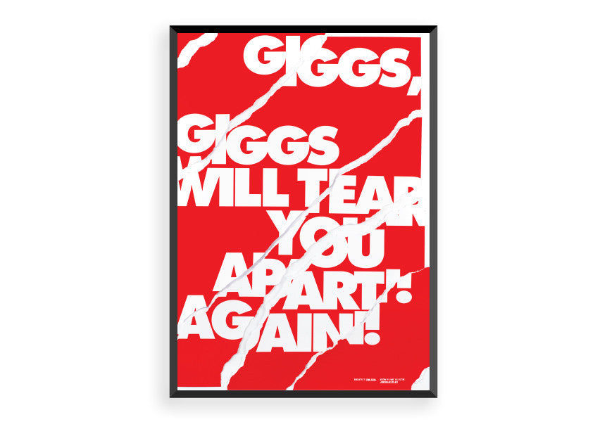 Giggs Will Tear You Apart Manchester United Art Print Poster Gift F G Staging