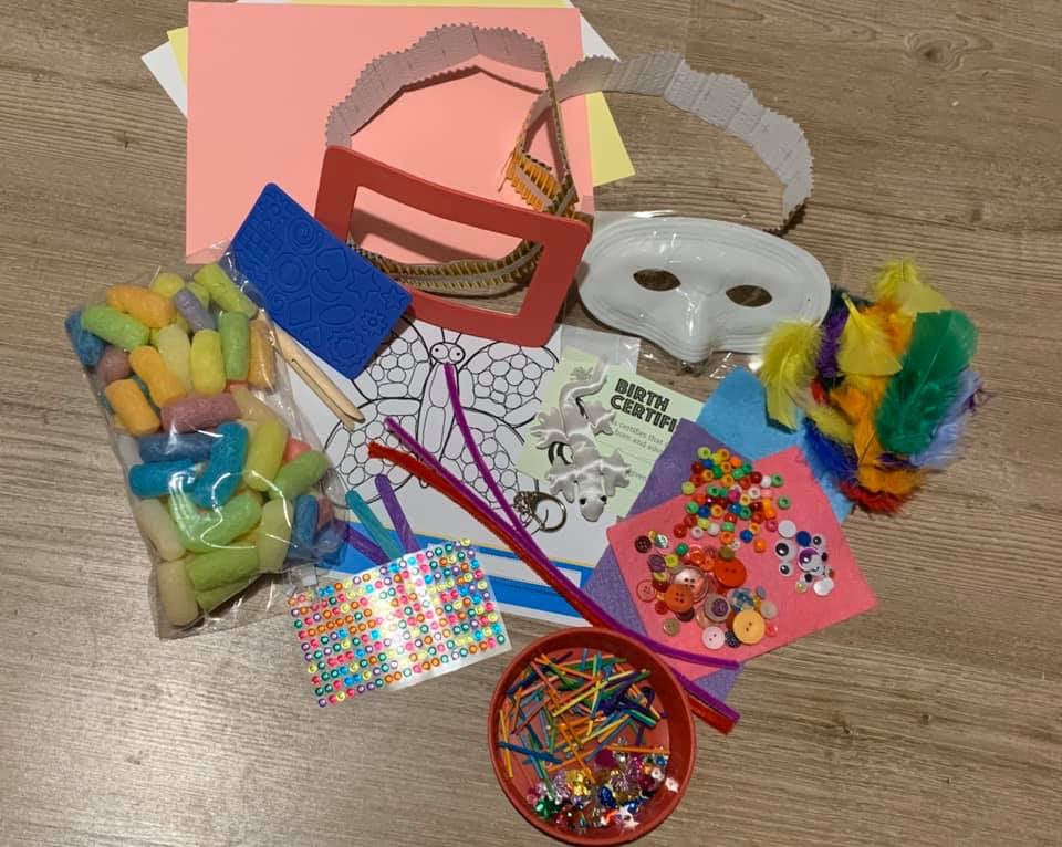 Craft Kit for Kids, pick your own craft activities, rainy days, holidays, isolation, Other - Sparkly Pretty Things