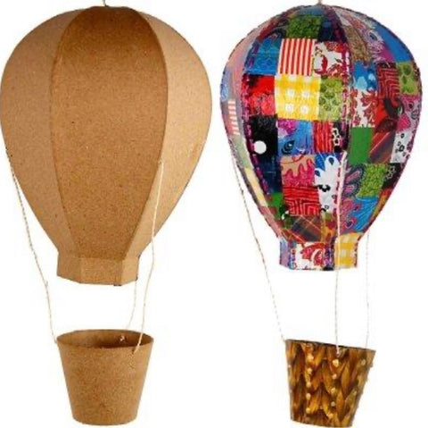 Hot Air Balloon Kit, large, decoupage, collage, paint, kids