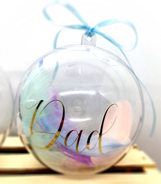 Personalised large Christmas Baubles, tree decoration, name, set, filled, Homeware - Sparkly Pretty Things