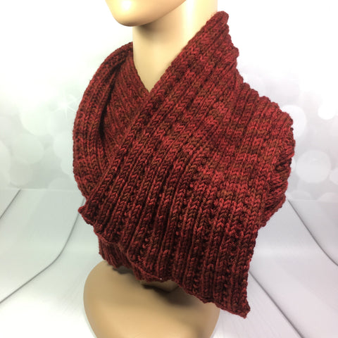 Luxury Men's/Unisex Scarf, ribbed, hand knitted, warm, thick, luxurious, quality, red, Knitted - Sparkly Pretty Things
