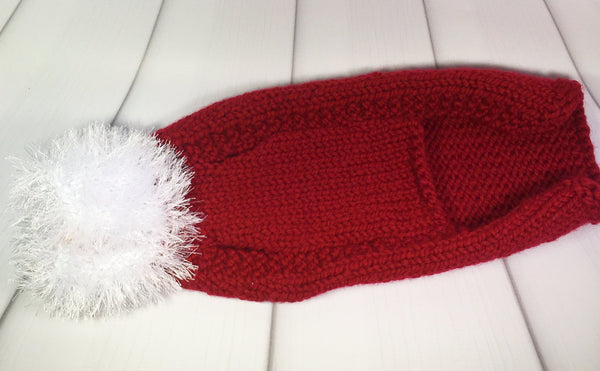 Santa's Christmas Dog Coat, hand knitted, Christmas, dogs, coat, fluffy, santa, Knitted - Sparkly Pretty Things