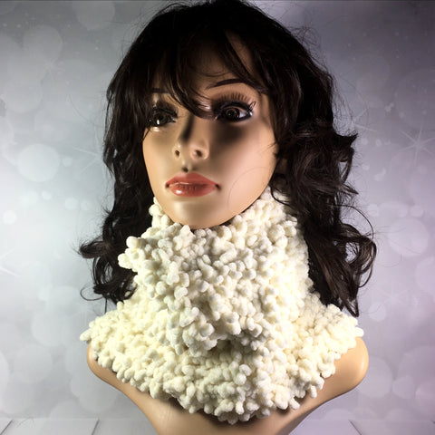Velvet soft handknitted neck warmer, mother's day, birthday, winter, cowl, snood, scarf, Knitted - Sparkly Pretty Things