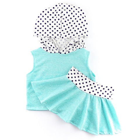 Teal French Terry & Polka Dot Set