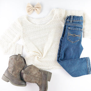 Slouchy Cream Striped Pullover