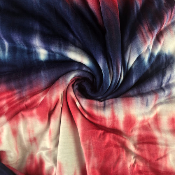 Red, White, Blue Tie-Dye