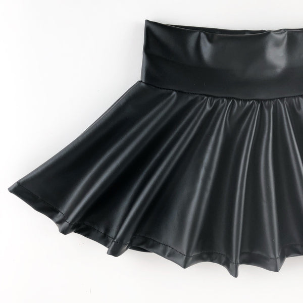 Leather Twirl Skirt