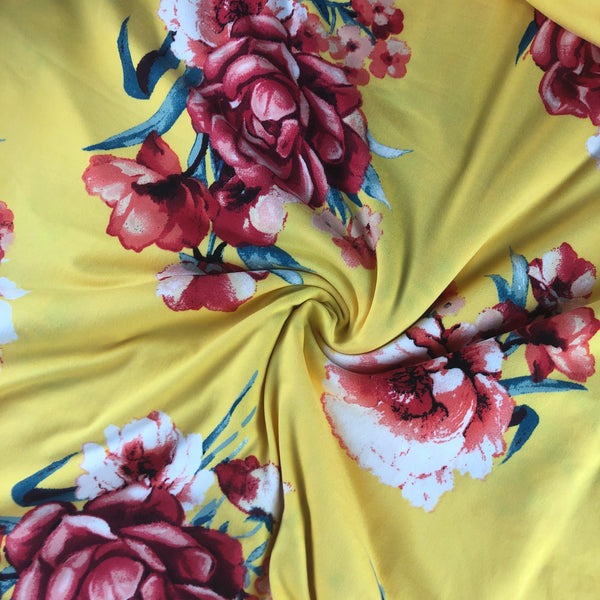 Yellow & Red Floral