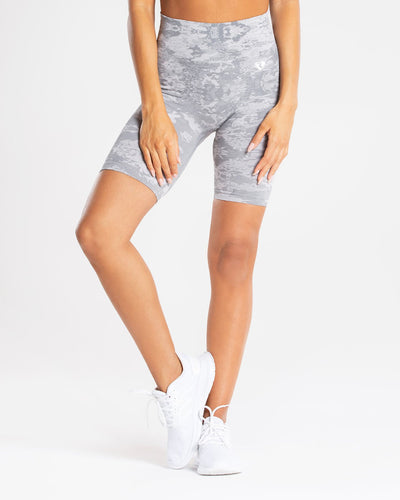 Camo Seamless Cycling Shorts | Grey