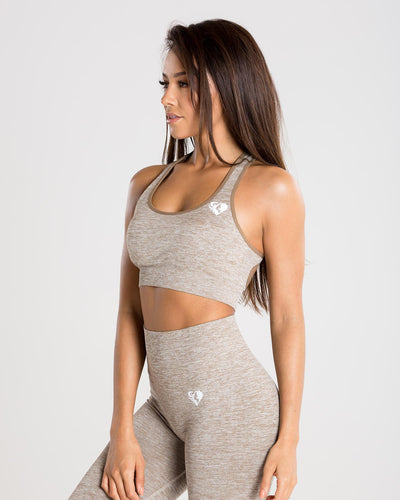 Move Seamless Sports Bra | Brown Grey Marl
