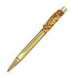 Creatively 1.0mm Luxury Ballpoint flow oil crystal Gold foil Metal Copper colorful high-grade gold powder quicksand pen
